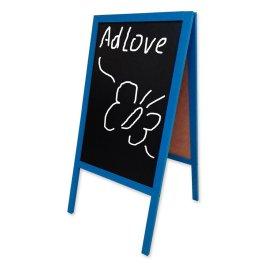 Blue Chalk A-Board 53x80cm