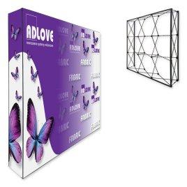 Ścianka Pop-Up FABRIC 3x3 Prosta
