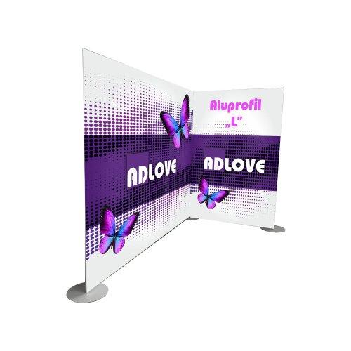 """ALUPROFIL """"L"""" Corner Advertising Wall"""