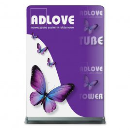 Tube TOWER (152x224cm) Fabric Advertising Stand