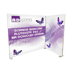"ALUTEKSTIL 46 ""L"" SEG Fabric Frame Corner Advertising Wall"