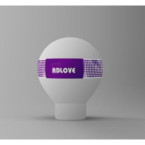Balon reklamowy B12   4m zadruk na pasie