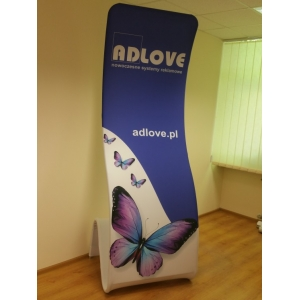 TUBE COBRA Fabric Advertising Stand title=