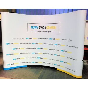PopUp SET Wall 4x3 Curved title=