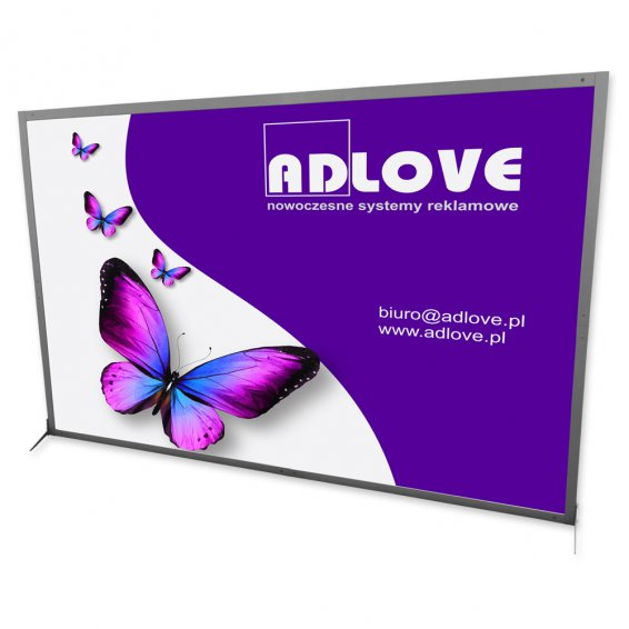 Customized Size ALUPROFIL ADVERISING WALL + PVC Board Printing title=