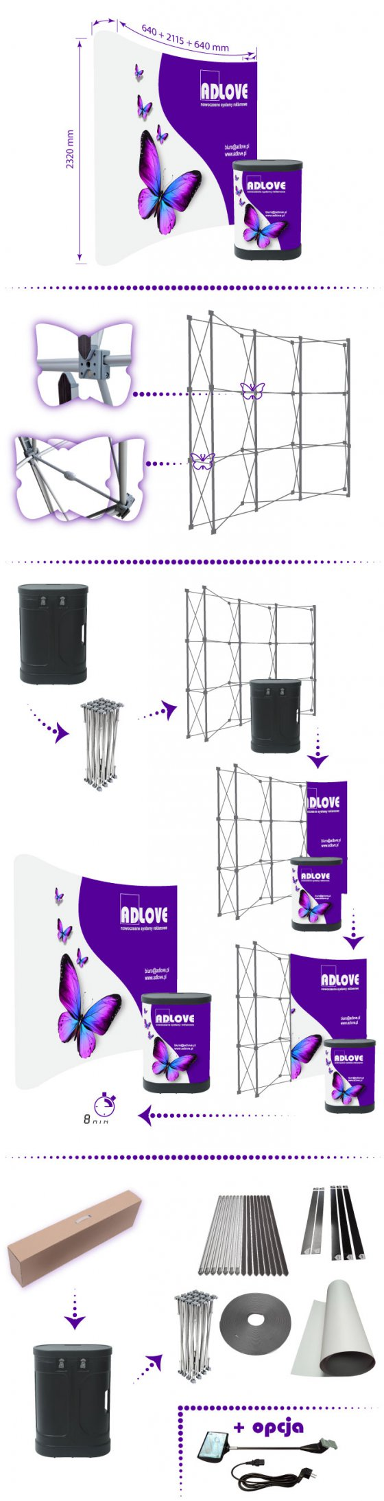 PopUp SET Wall 3x3 Curved