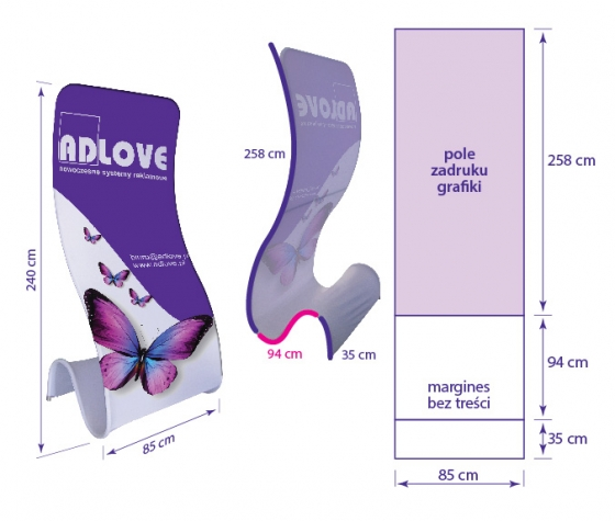 TUBE COBRA Fabric Advertising Stand